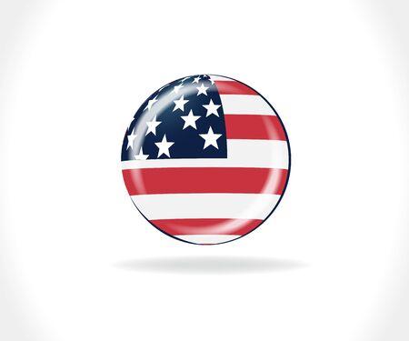 American flag USA button logo vector web image design 向量圖像