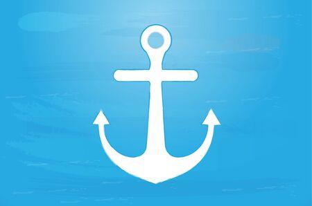 Anchor beach icon vector logo design web image