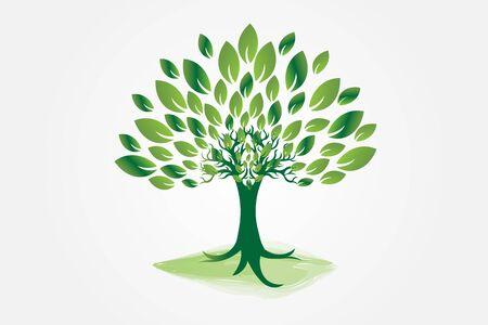 Logo tree ecology icon symbol vector web image graphic design illustration