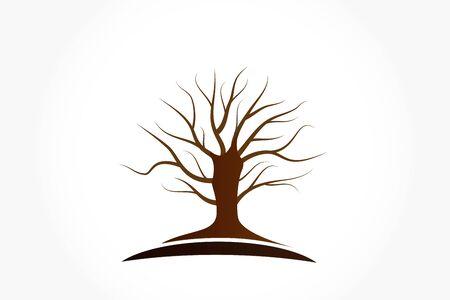 Tree trunk base logo symbol vector image design