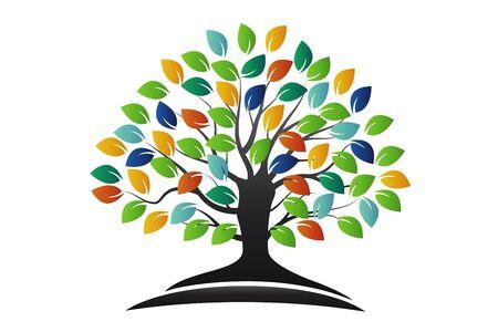 Tree logo symbol of life vecctor image design