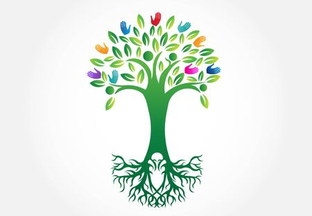 Tree logo symbol of life vector image design