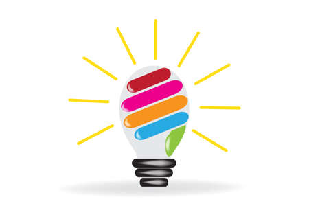 Logo light bulb hand creative idea symbol vector design image