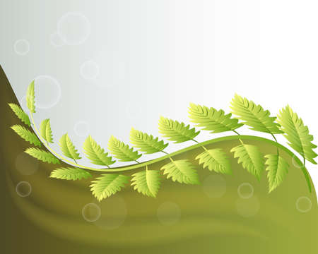 Ecology green leafs background logo vector image design