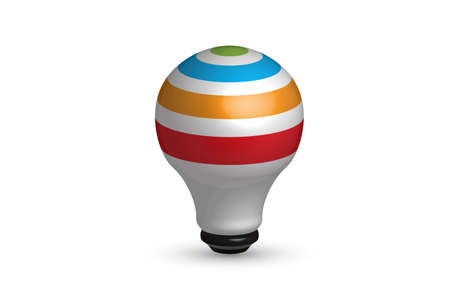 Logo light bulb idea icon. Creative idea symbol vector design colorful image
