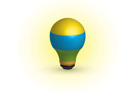 Logo lightbulb idea icon. Creative idea symbol vector design colorful image  イラスト・ベクター素材