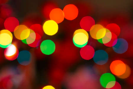 Christmas lights tree colorful bokeh decoration background template greetings card  merry christmas