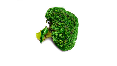 Bunch broccoli healthy nutrition organic diet veggie isolated on white background
