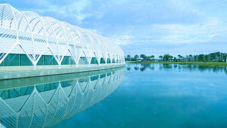 Florida Polytechnic University modern architecture building structures image background Stock Photo