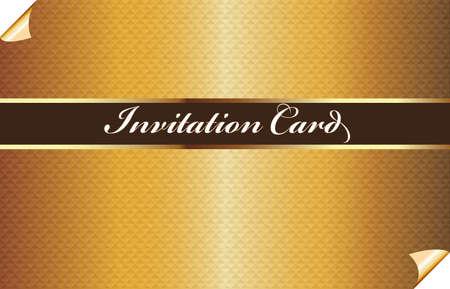 Elegant golden invitational card pattern vector web image illustration graphic design background template