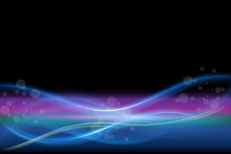 Spectrum waves aurora borealis bubbles bokeh beautiful vector illustration background web template