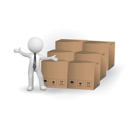 3d small people worldwide package delivery, isolated white background, 3d image vector image banner background.