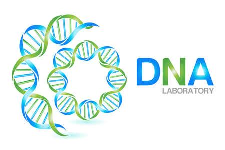 DNA icon symbol logo vector web image graphic design element background template Logo