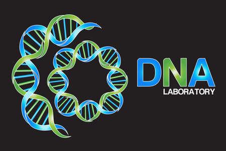 DNA icon symbol logo vector web image graphic design element black background