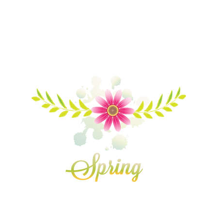 Spring Flower Greetings Card Banner Vector Image Background Template Watercolor