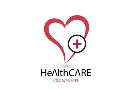 Heart healthcare symbol for medical health clinic company logo icon vector image graphic design template