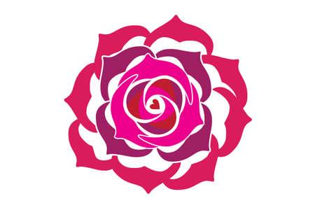 Rose blossom flower sketch symbol icon logo vector image design