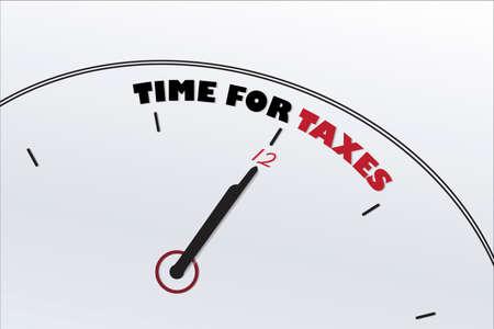 USA Time for Taxes Clock Symbol vector image design