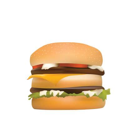 tasty hamburger Vector