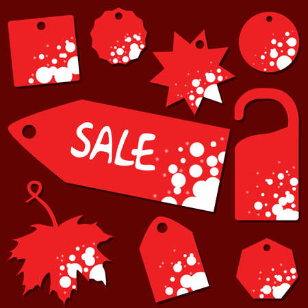 set of sale labels with christmas theme Vector