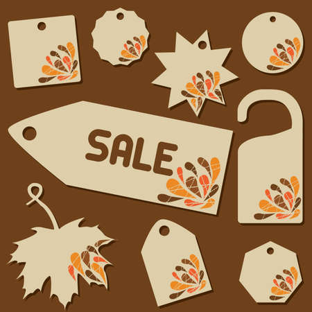set of sale labels with retro theme Vector