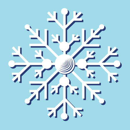 one snowflake on the blue background Stock Vector - 8093636