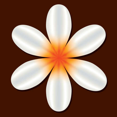 white flower on the brown background Stock Vector - 8093676