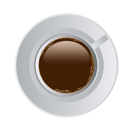 cofee cup: cup of cofee in white potty