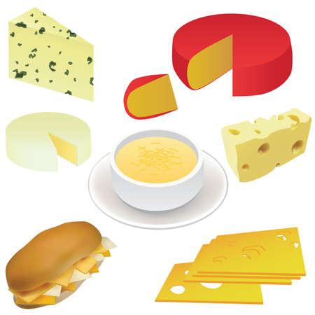 sopa: conjunto de queso - queso suizo, Queso edam, s�ndwich, sopa de queso, etc.