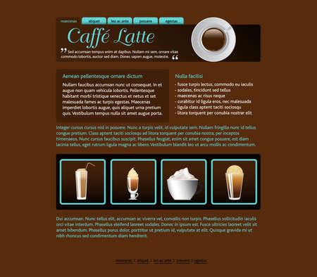 web site design template, coffee house theme Vector