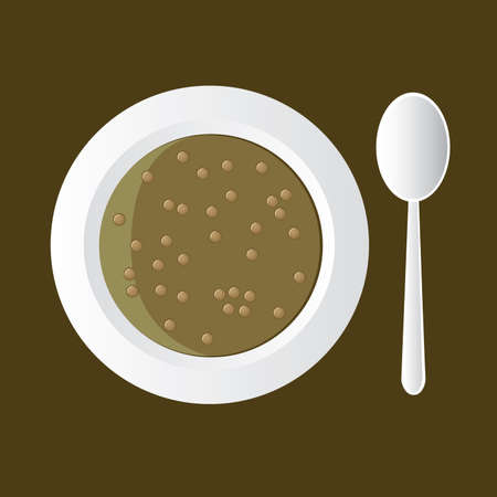 pulses: tasty lentil soup in white bowl
