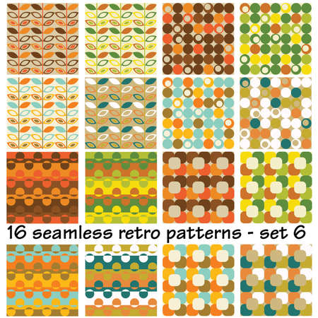 16: 16 seamless retro patterns - set 6