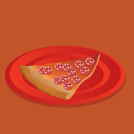 salame: salami pizza