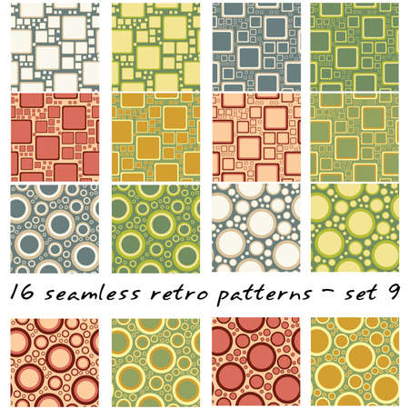 16: 16 retro seamles patterns - set 9