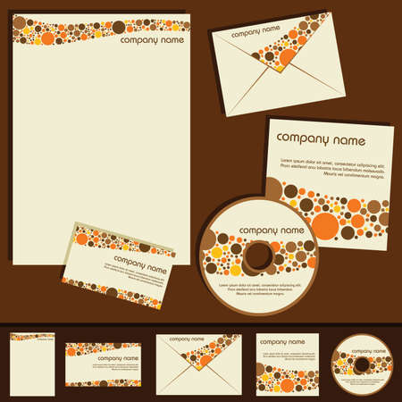 white headed: corporate identity template - dots theme Illustration