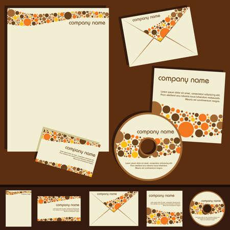 plantilla de identidad corporativa - tema de puntos Foto de archivo - 8688170