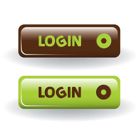 login buttons - brown and green Vector