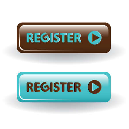 register button: register buttons - brown and blue