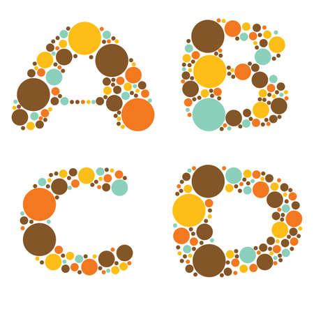 alphabet - part one - A, B, C, D Stock Vector - 8801730