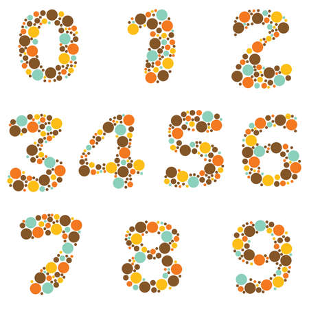 cyfra: Alfabet - część 8 - numery Ilustracja