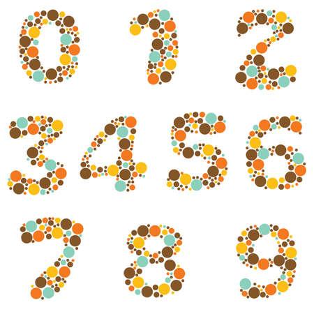 numbers abstract: n�meros de alfabeto - parte ocho-