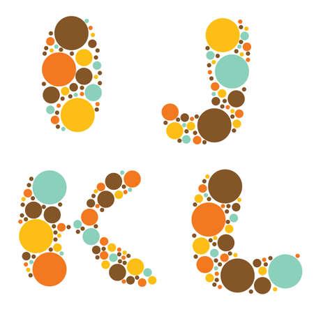 alphabet - part three - I, J, K, L Stock Vector - 8797665