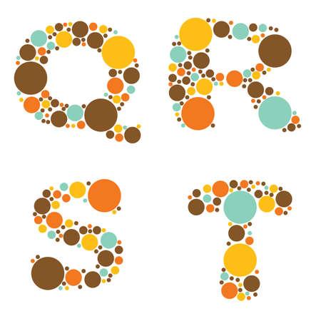 alphabet - part five - Q, R, S, T Stock Vector - 8797672
