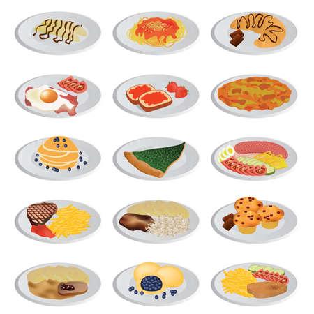 typical: big food set Illustration