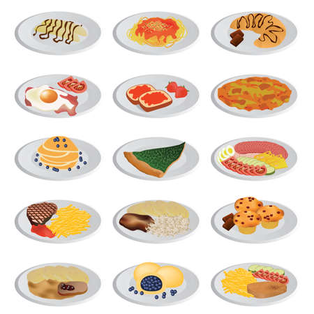 dumpling: big food set Illustration