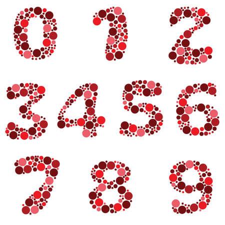alphabet - part eight - numbers Stock Vector - 9152192