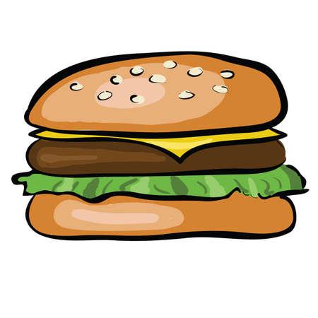 doodle hamburger Vector