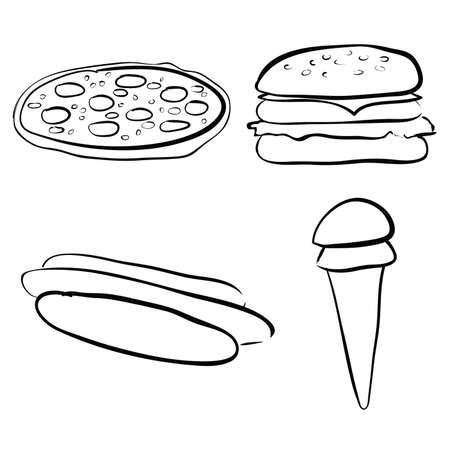 doodle set - fastfood Stock Vector - 9152182
