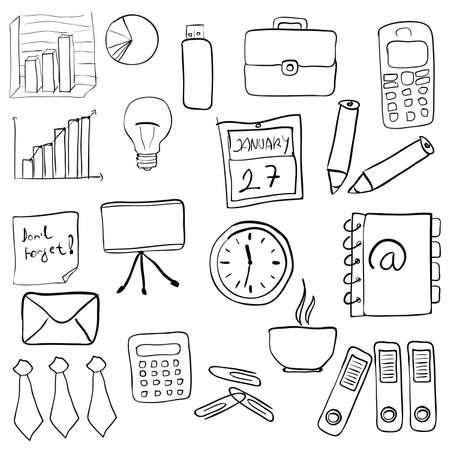 hand drawn: business set