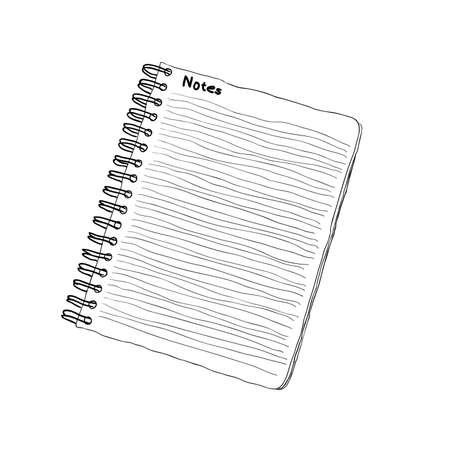 doodle notebook Stock Vector - 9256211